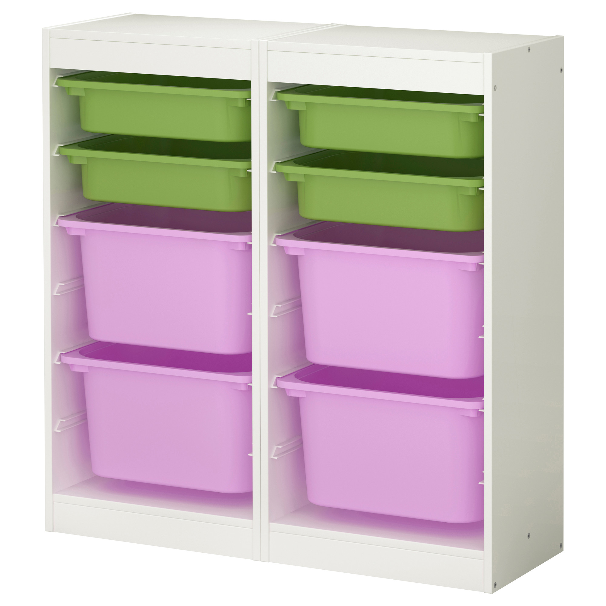 white ikea Toy Storage filled witheight boxes