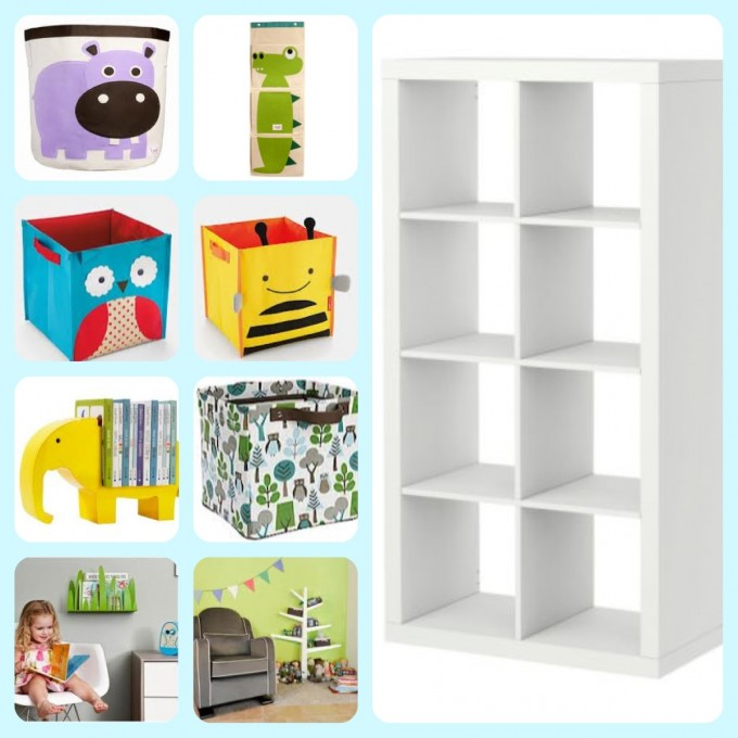 White Ikea Toy Storage With Eight Spaces For Children Toys Plus Charming Kinds Of Boxes
