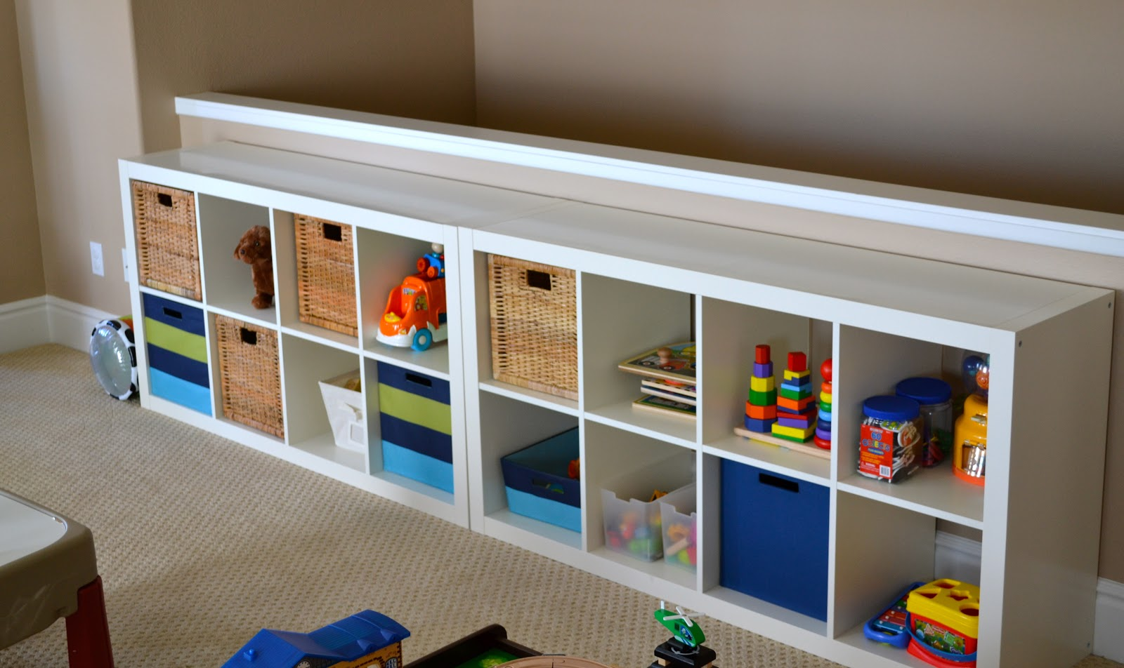 white ikea toy storage with white microfiber filled with toys. Furniture  Creative Ikea Toy Storage Bench Design Ideas For Small