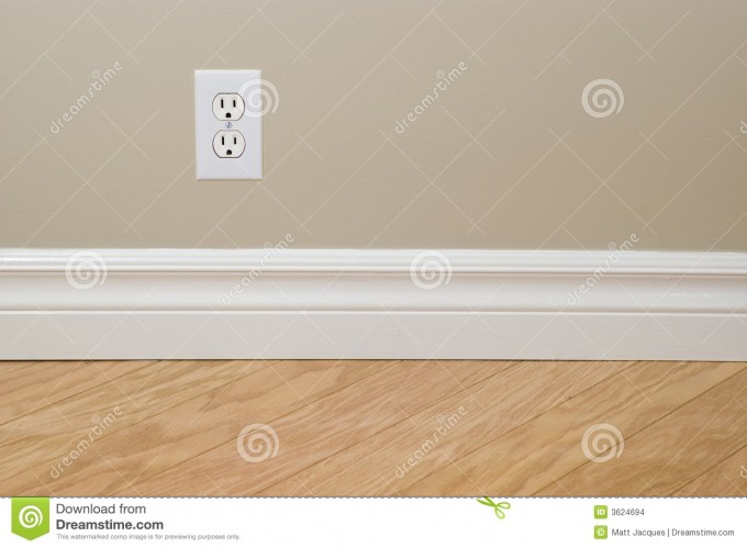 Wonderful Baseboard Molding With Tan Wall And Wooden Floor