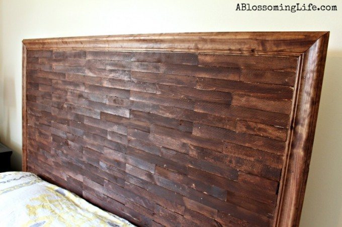 Wood Homemade Headboards With Wheat Wall For Bedding Inspiration