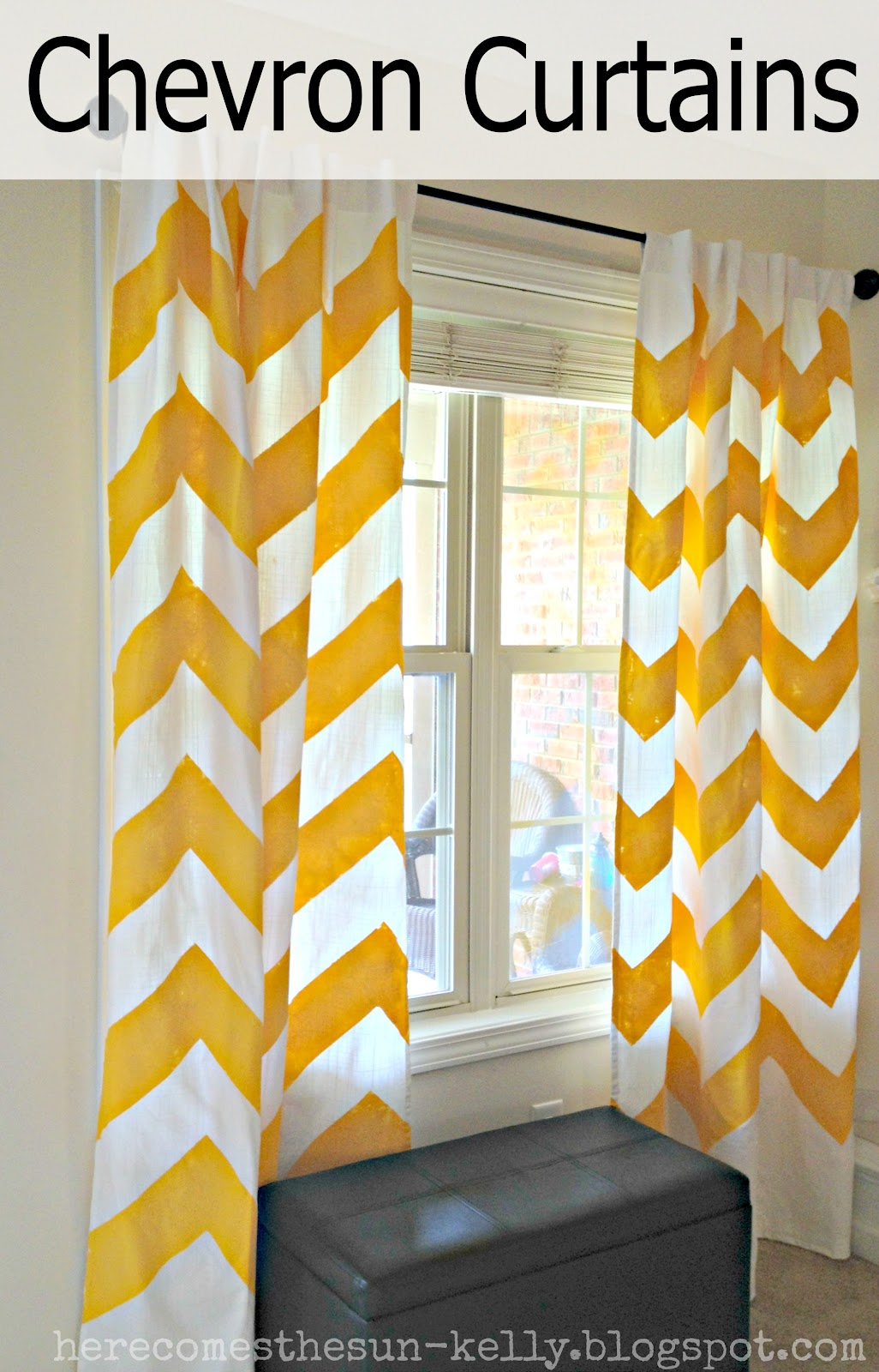 Wall Decor: Awesome Chevron Curtains In Grey And Orange Matced ...