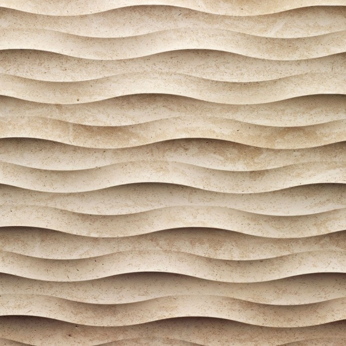 3d Textured Wall Panel Come With Wavy Pattern With Sand Textured