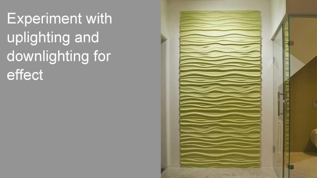 3D Textured Wall Panels in green for wall decor ideas