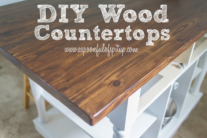 A Spoonful Of Spit Up DIY Wood Butcher Block Countertops