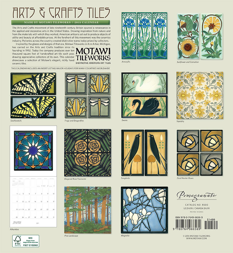 Decorating beautiful motawi tile for wall ornament ideas arts crafts motawi tile for wall calendar doublecrazyfo Gallery