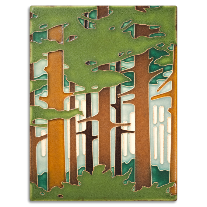 Arts & Crafts Motawi Tile Tree For Wall Ornament Ideas