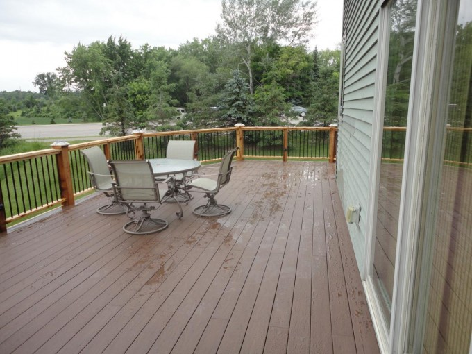 Azek Decking And Railing Plus Dining Table For Deck Ideas