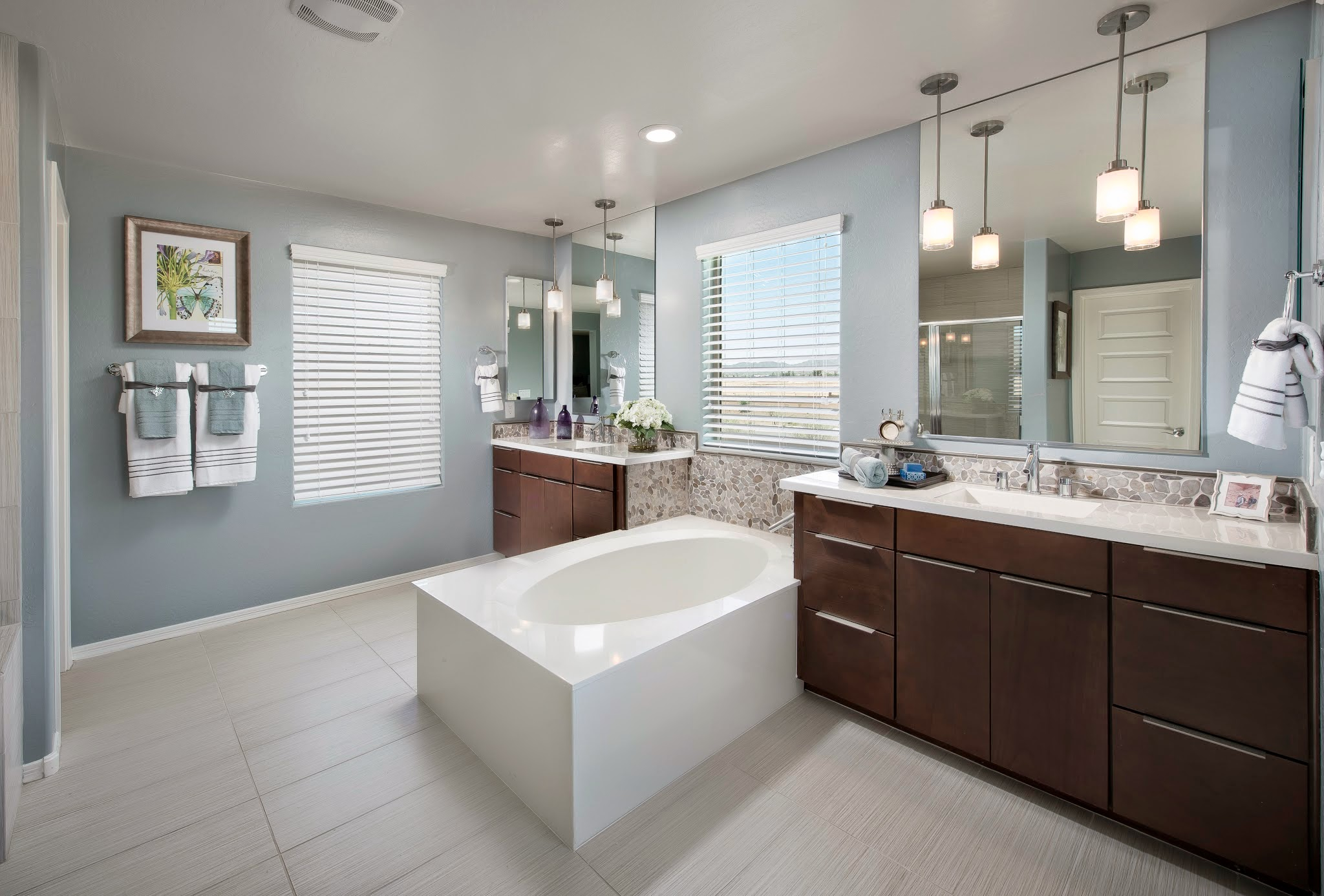 bathroom ideas with Emser Tile Strands Pearl 12 x 24 plus bath up and bathroom cabinet plus sink