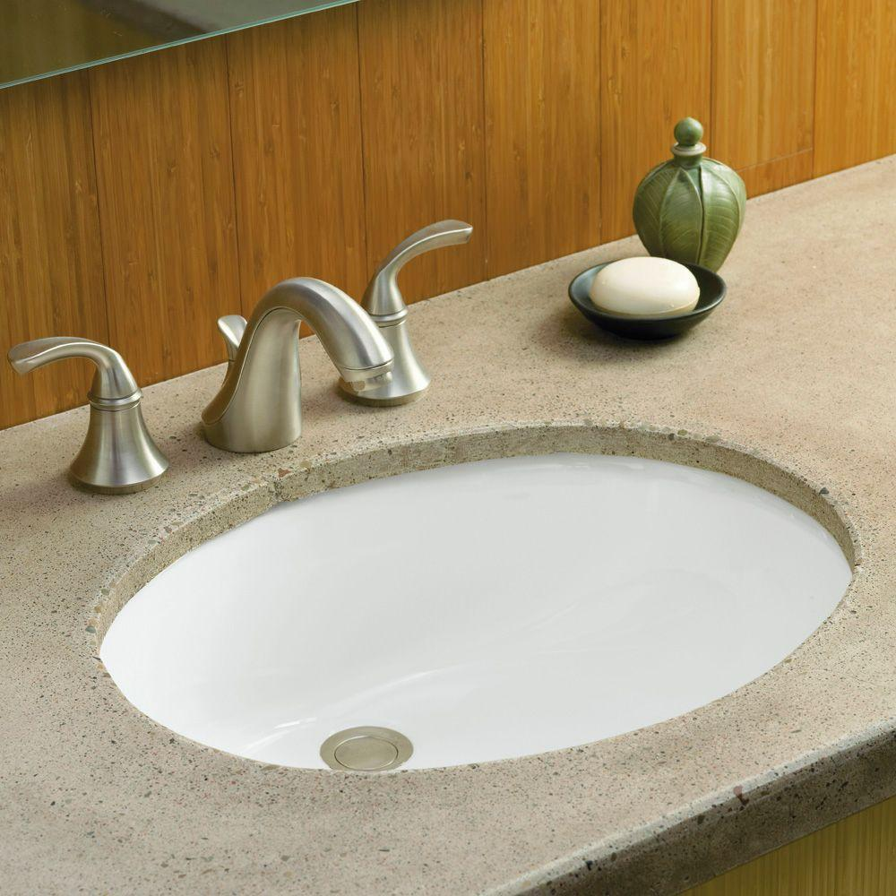 bathroom kohler sinks with faucet on wheat countertop plus mirror for bathroom ideas