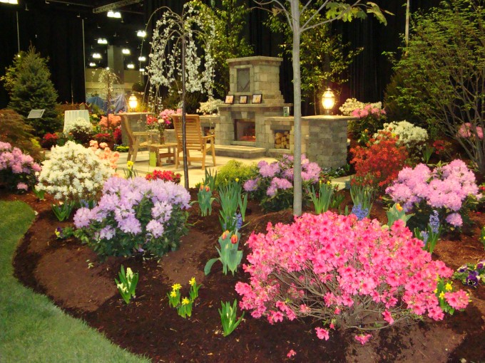 Beautiful Gardening With Frontgate Outdoor Furniture Ideas With Wooden Armchair And Fireplace