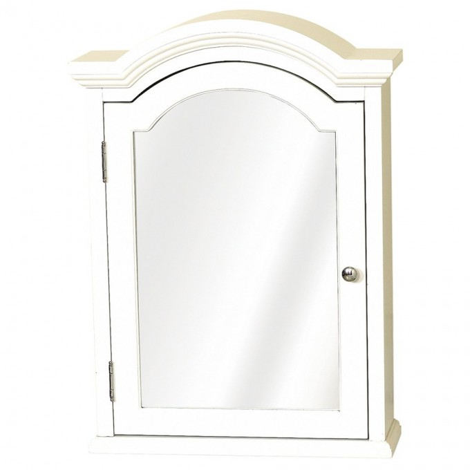 Beautiful Snow White Lowes Medicine Cabinets With Mirror And Silver Handle