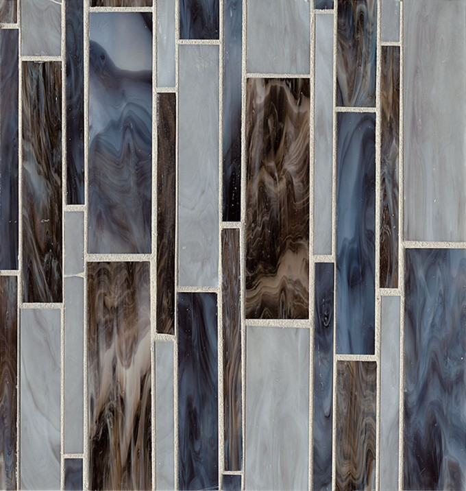 Bedrosians Retrospect Glass Mosaic Collection Ecomoso