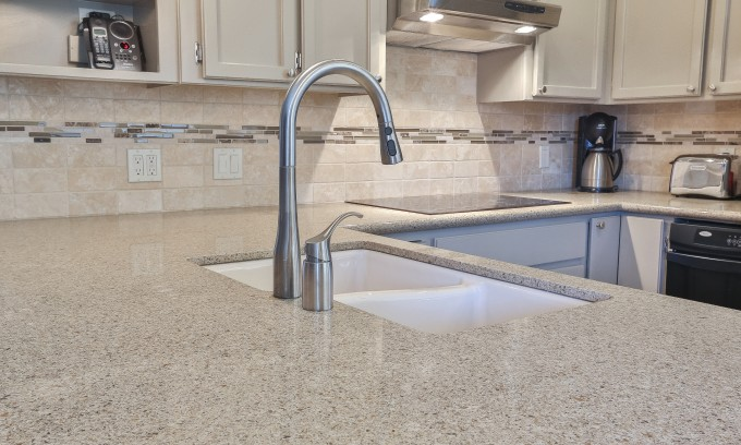 Bedrosians Tilecrest For Kitchen Wall Design Plus Sink And Cream Countertop