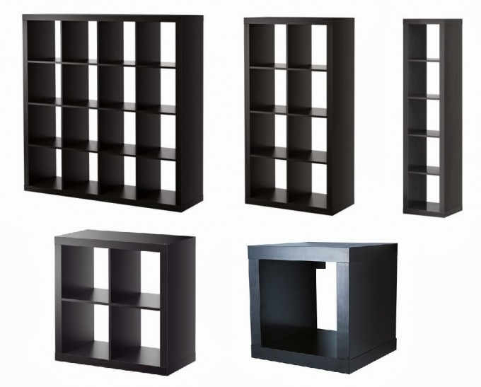 Black Ikea Expedit Bookcase With Some Sizes For Smart Furniture Ideas
