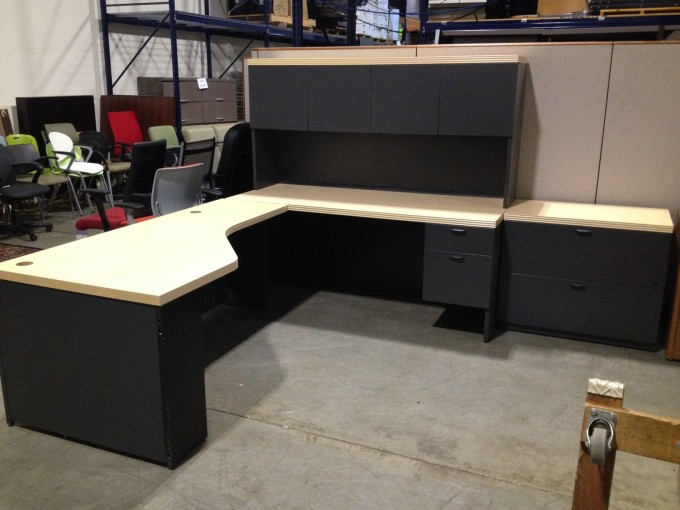 Black L Shaped Desk With Hutch Plus Storage And Computer Stand For Home Office Furniture Ideas