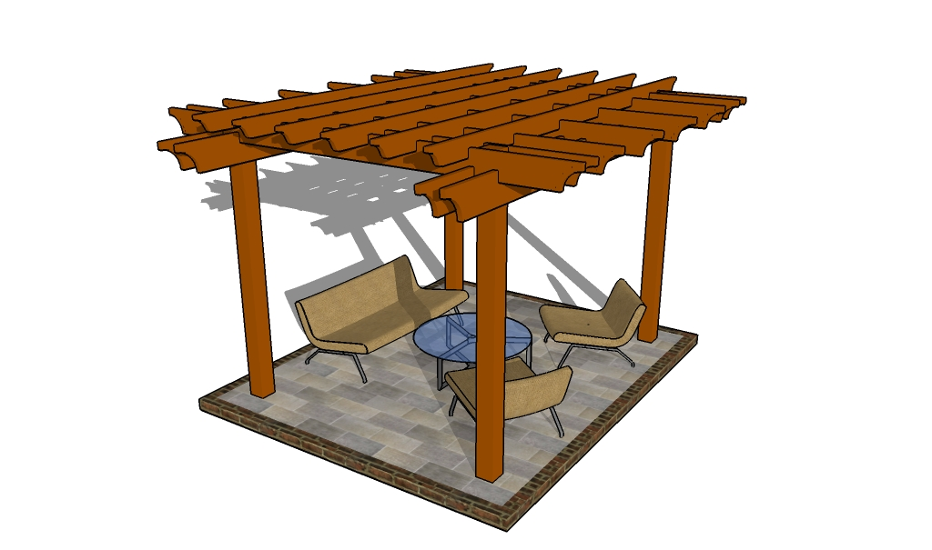 brown pergola plans ideas with sofa sets for yard decor inspiration