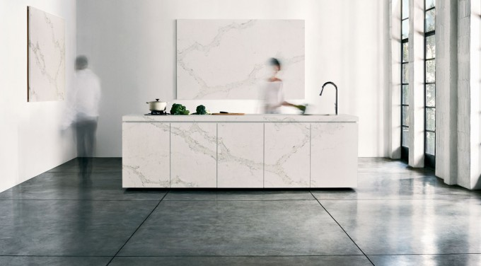Caesarstone Calacatta Nuvo 5131 Countertop Plus Sink And Faucet For Kitchen Furniture Ideas