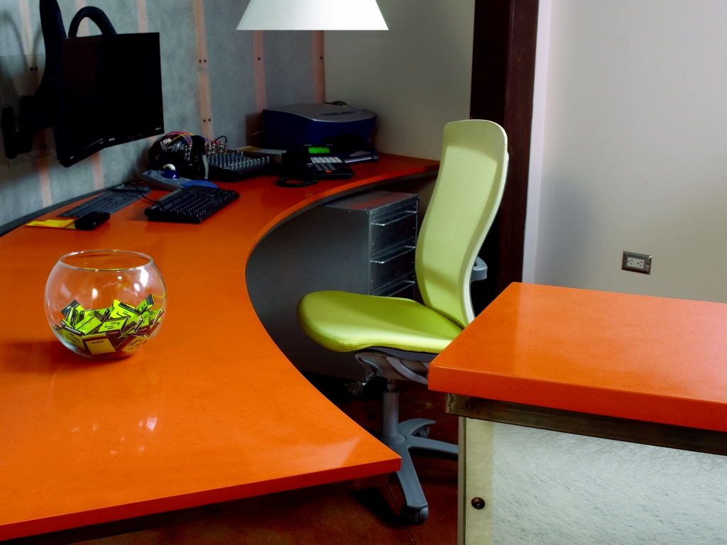 Caesarstone Tequila Sunrise Countertops Installation on work space ideas