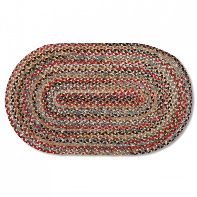 Charming And Multicolor Oval Braided Rugs For Floor Decor Ideas