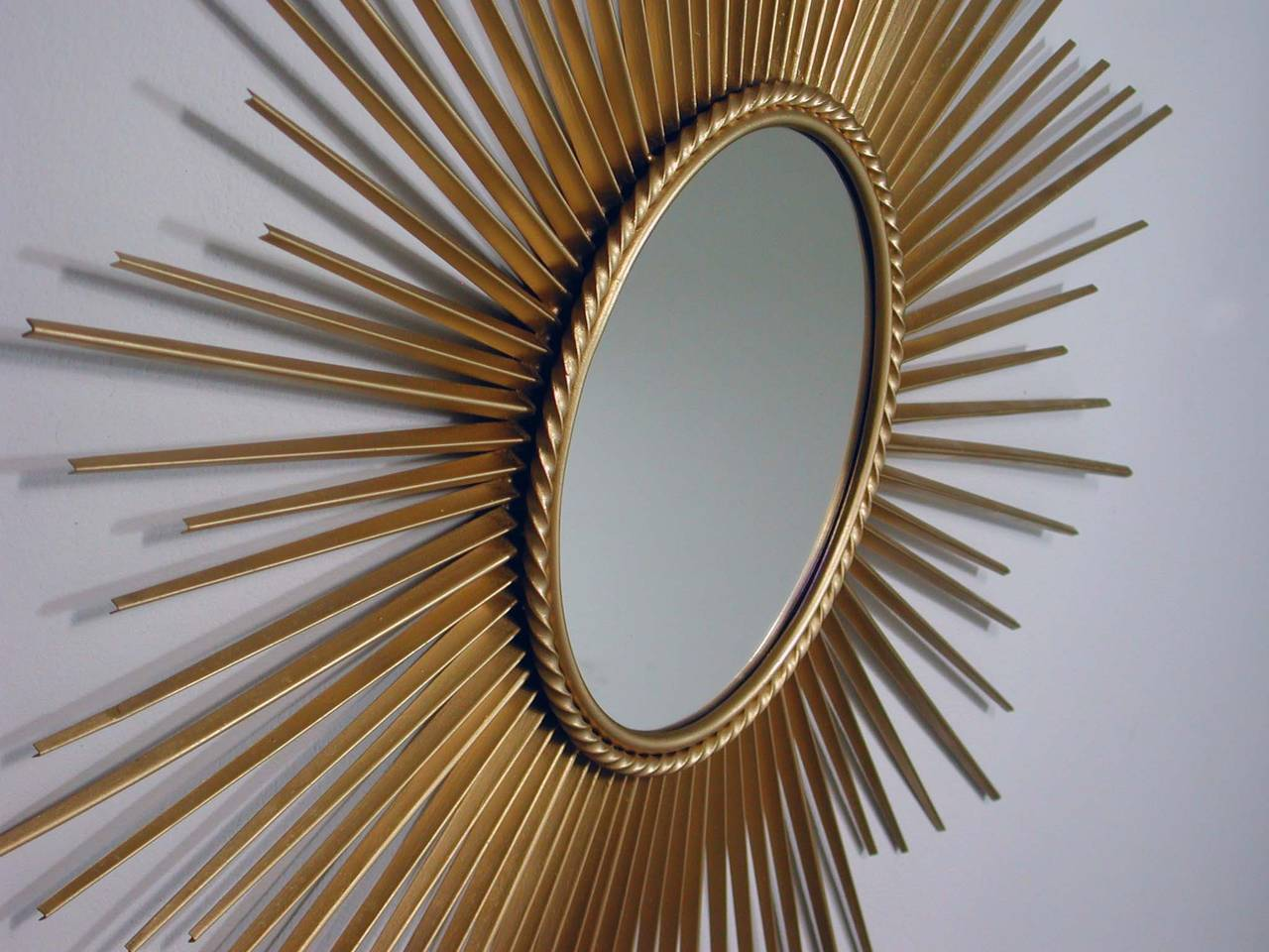 charming brown Starburst wall decor with Mirror For inspiring wall ideas