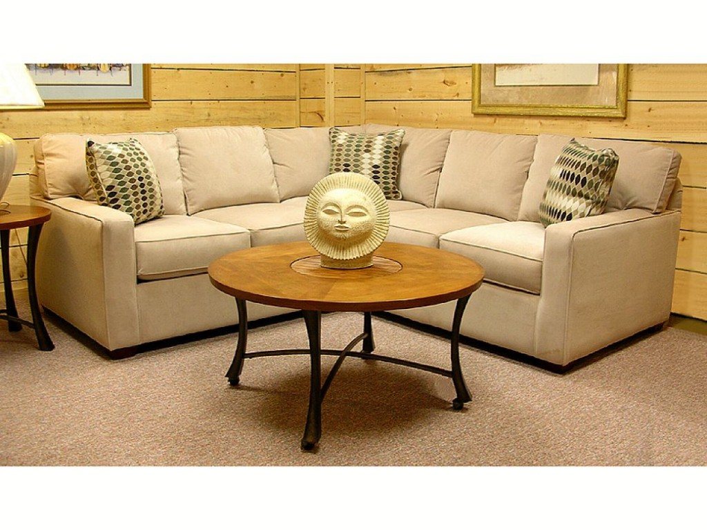 Furniture inspiring sectional couches for your living room charming cream sectional couches with cushions and round wooden surface table on cream carpet for living geotapseo Gallery