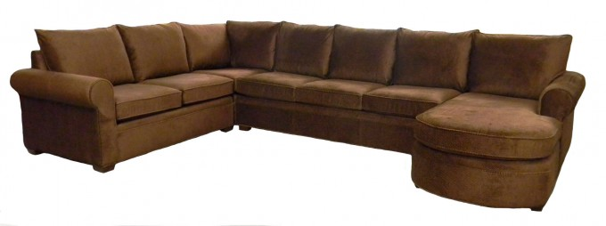 Charming Dark Brown Sectional Couches For Inspiring Furniture Ideas
