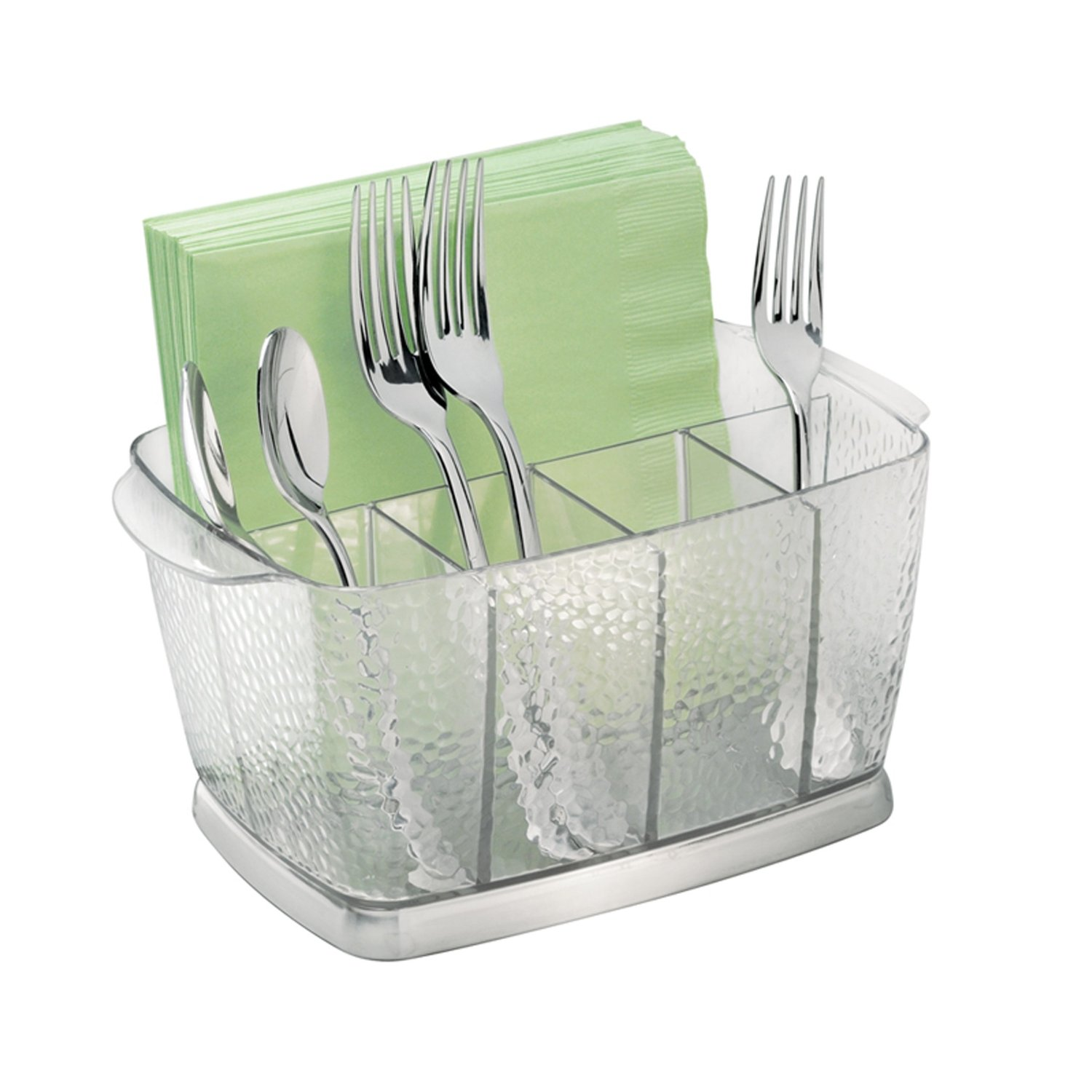 Charming Glass Utensil Caddy For Kitchen And Dining Table Accessories Ideas
