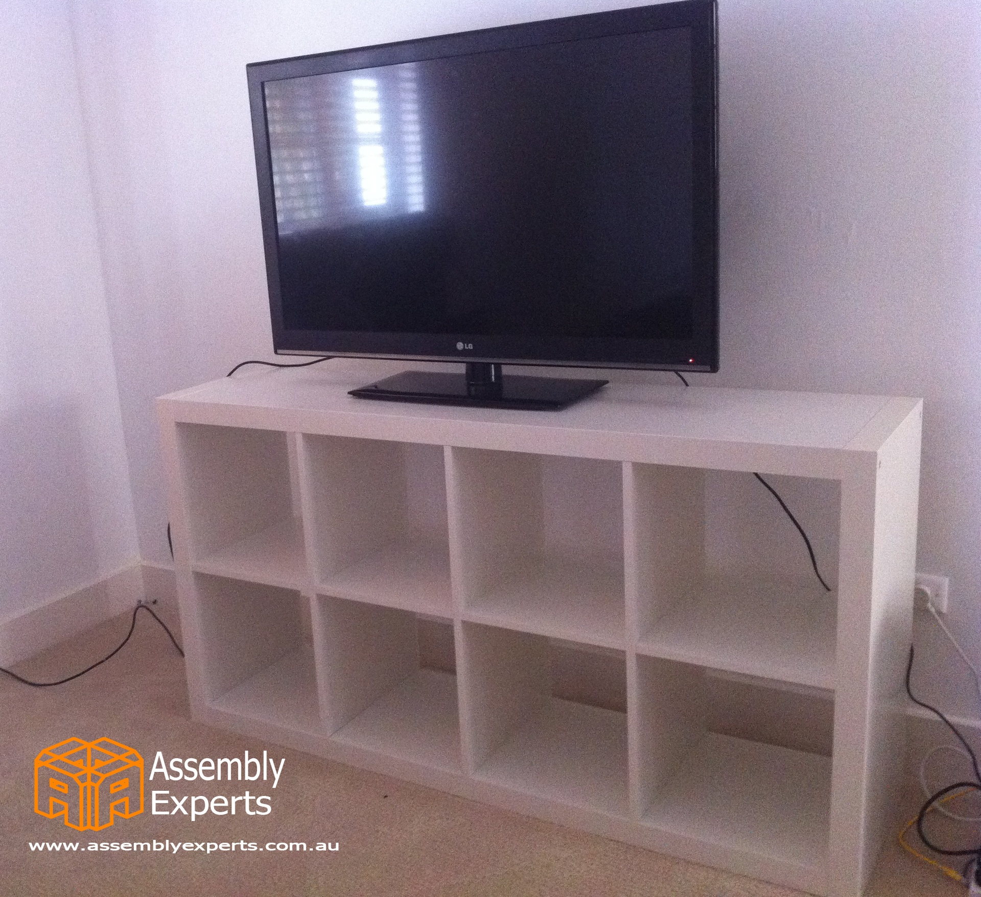 charming ikea expedit bookcase in white with tv with white wall and wooden floor