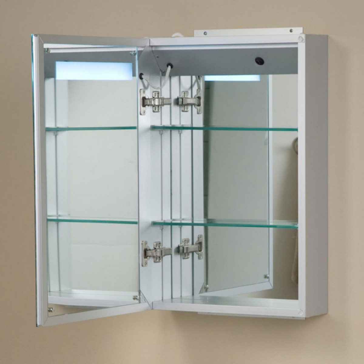 charming Lowes Medicine Cabinets with Mirrors on cream wall