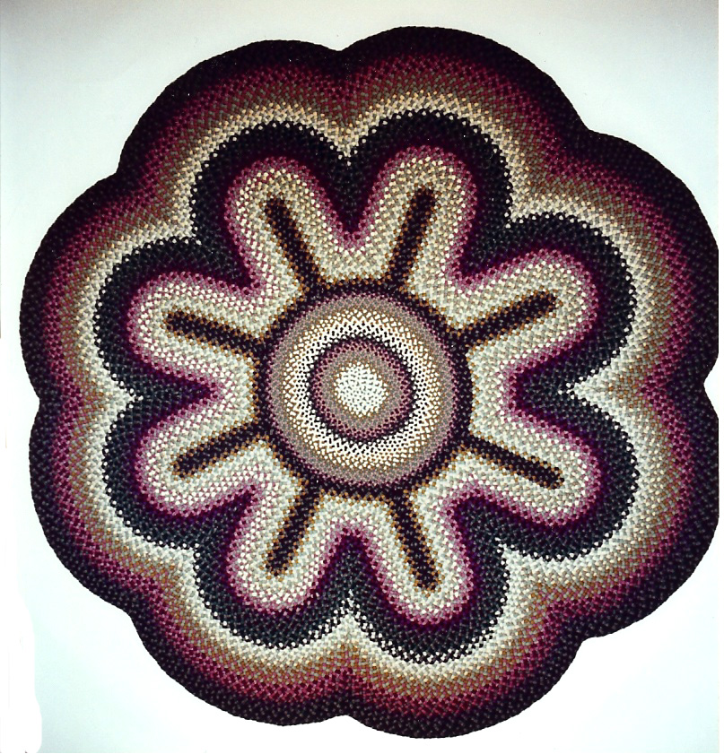 charming multicolor braided rugs in flower design floor charming floor decor ideas