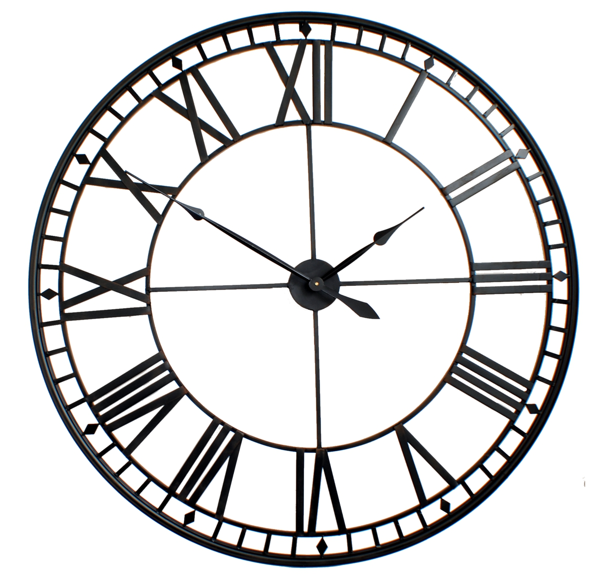 charming oversized wall clock in white and black nuance