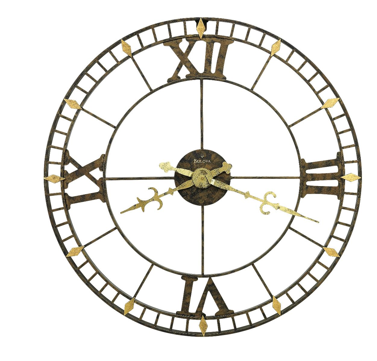 charming oversized wall clock with khaki hand