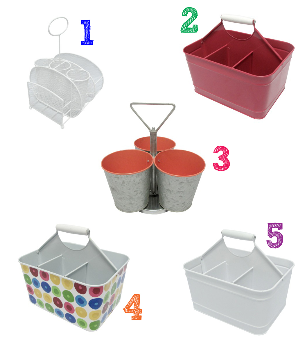 Charming Picnic Utensil Caddy With Option Designs