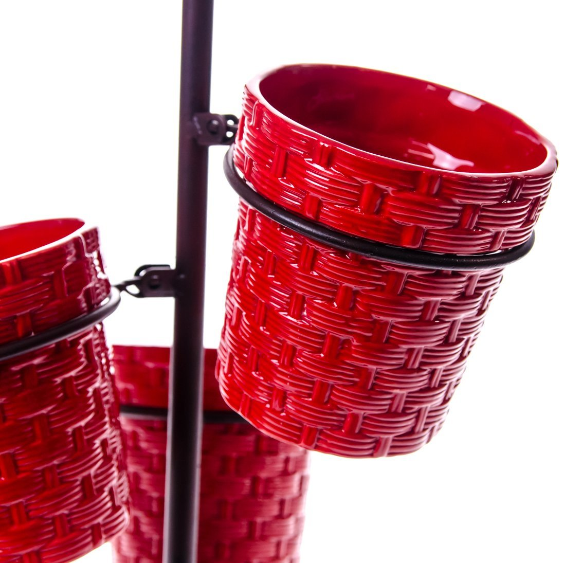 Charming Red Utensil Caddy For Kitchen Accessories Ideas