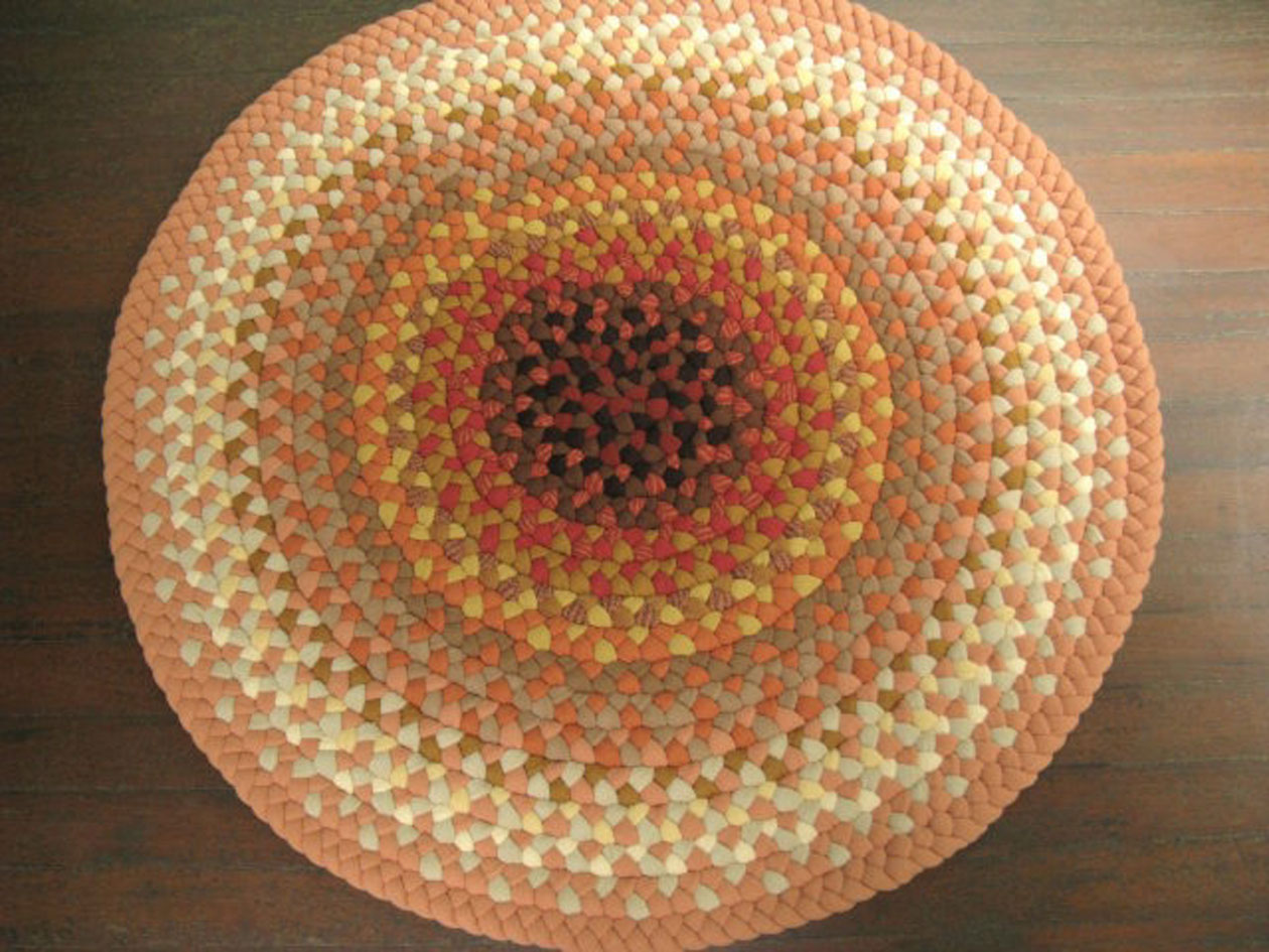 charming round braided rugs in multicolor for floor decor ideas