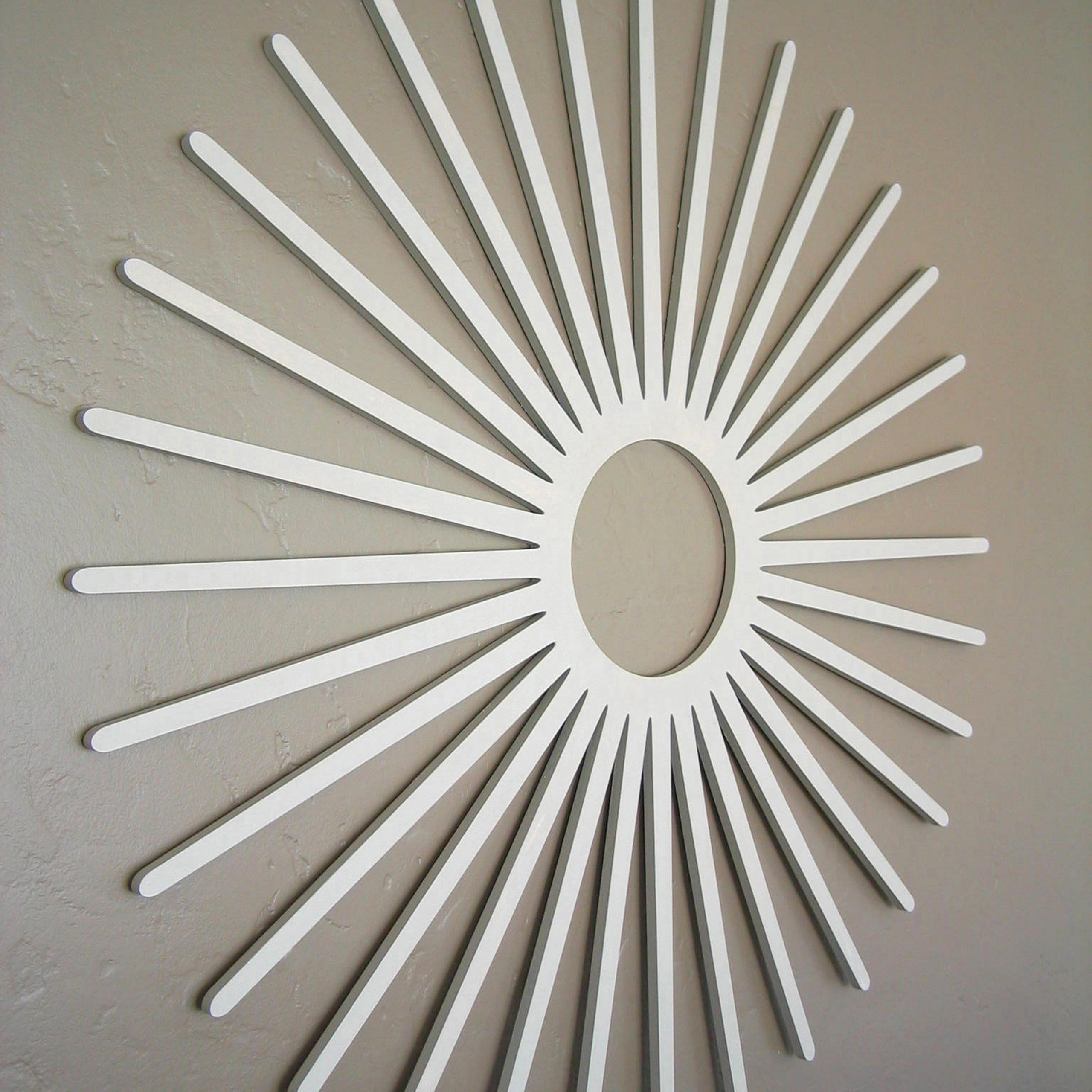 charming White starburst wall decor for wall accessories ideas
