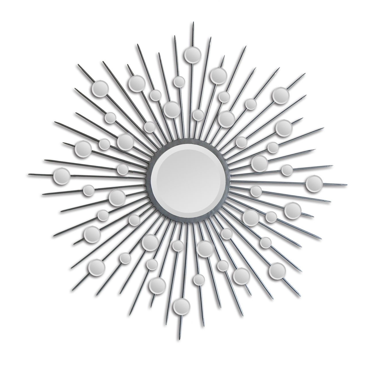 charming white Starburst wall decor with Mirror for inspiring wall ideas