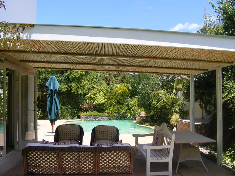 Contemporary Pergola plans Design Ideas with chairs and table near a swimming pool for backyard ideas
