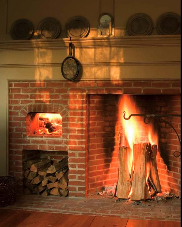Cooking Rumford fireplace with brick mantel kit plus wood space ideas