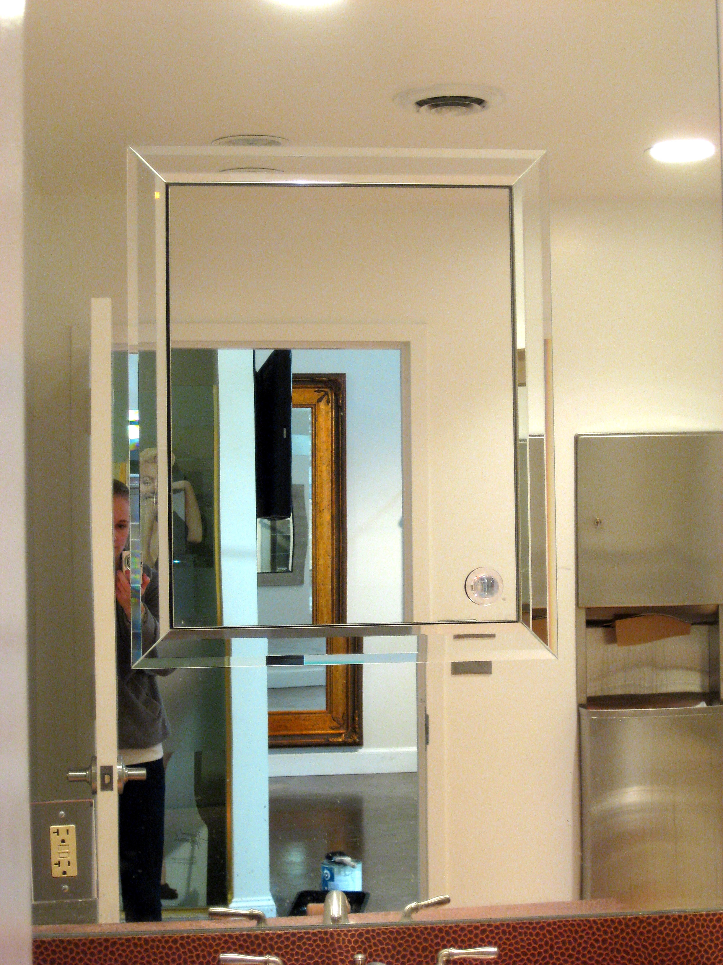 coolest Lowes Medicine Cabinets With mirror at bathroom with white wall