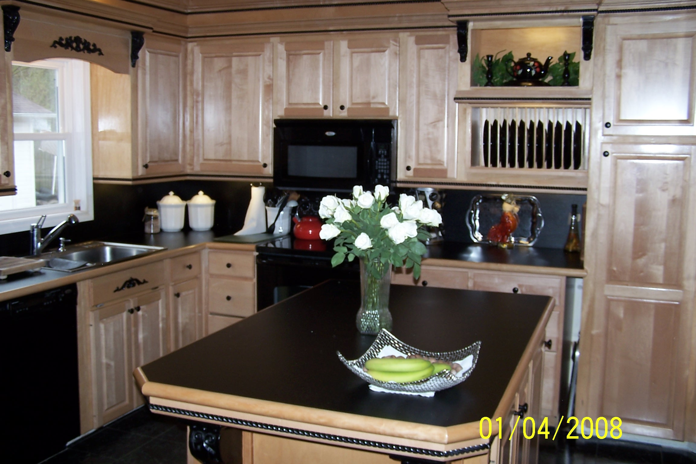 Furniture Cream Kitchen Cabinet Refacing With Black Oven And Sink