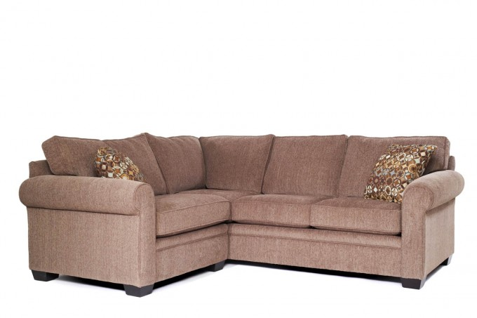 Custom Brown Sectional Couches Plus Floral Cushions For Inspiring Furniture Ideas