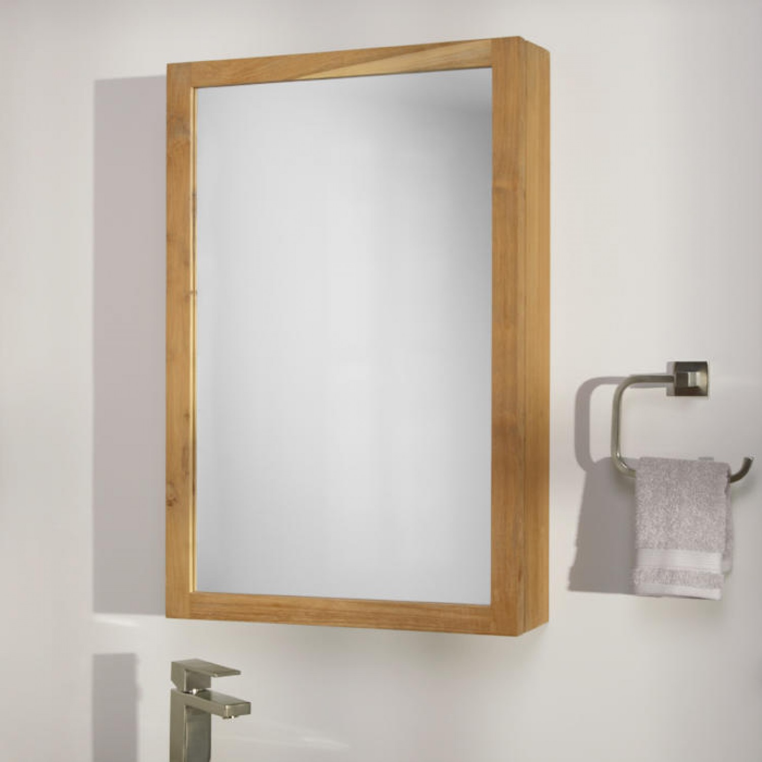 Custom wood lowes Medicine Cabinets With Mirrors At white wall for bathroom furniture ideas