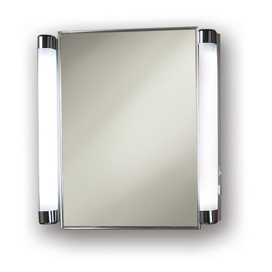 Delightful lowes Medicine Cabinets With mirror and double Lights At white wall