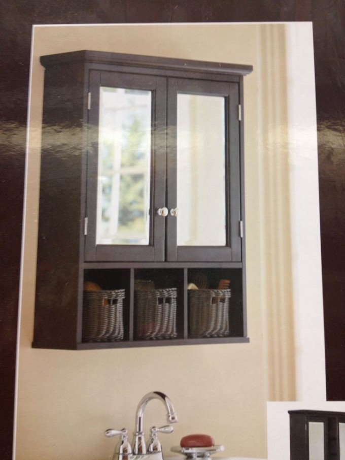 Delightful Lowes Medicine Cabinets With Mirror On White Wall Plus Boxes