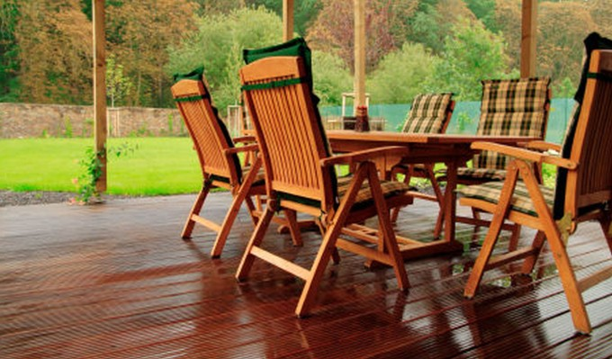 Divine Frontgate Outdoor Furniture With Wooden Chairs On Wooden Floor
