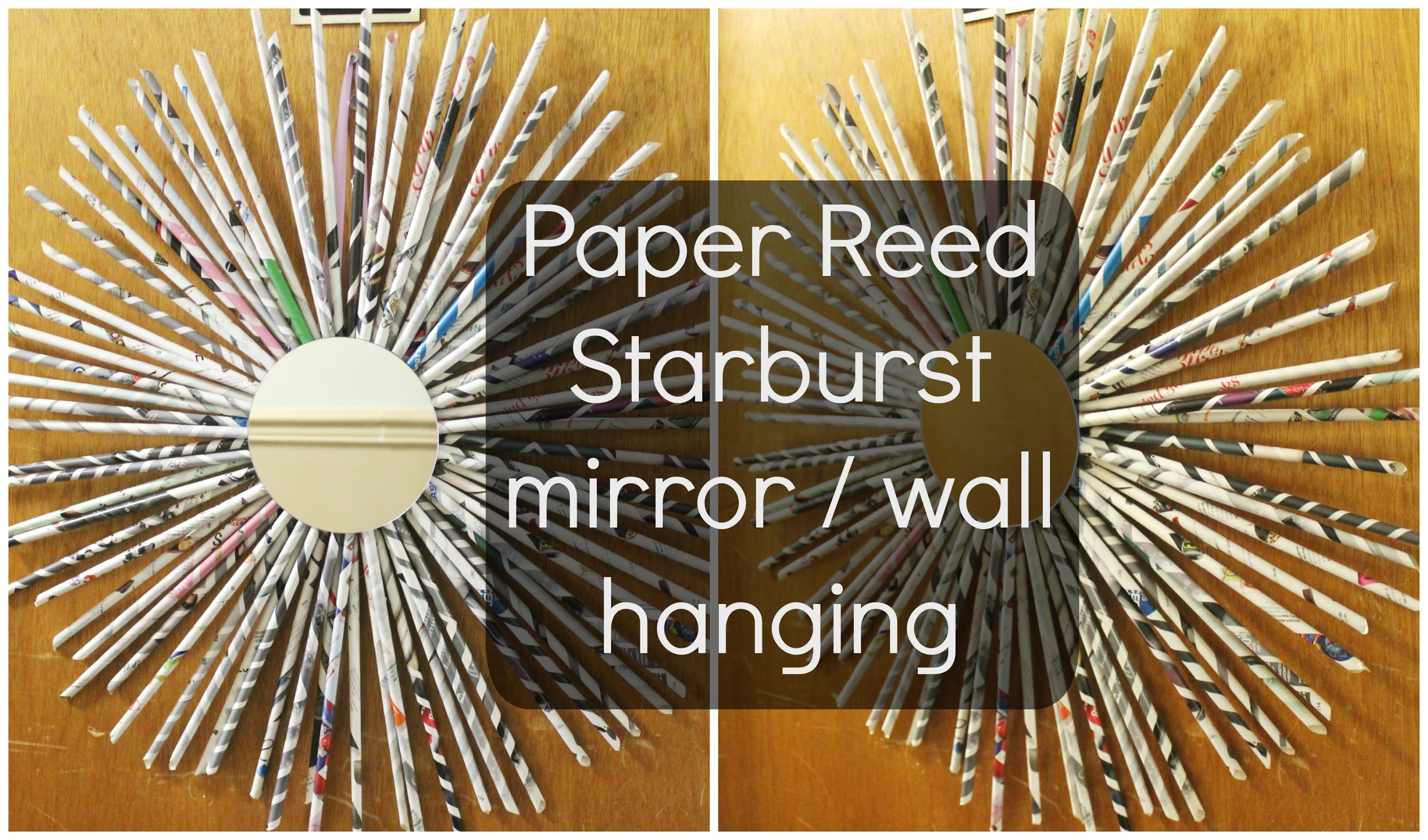 DIY Paper Reed Starburst wall decor for wall ideas