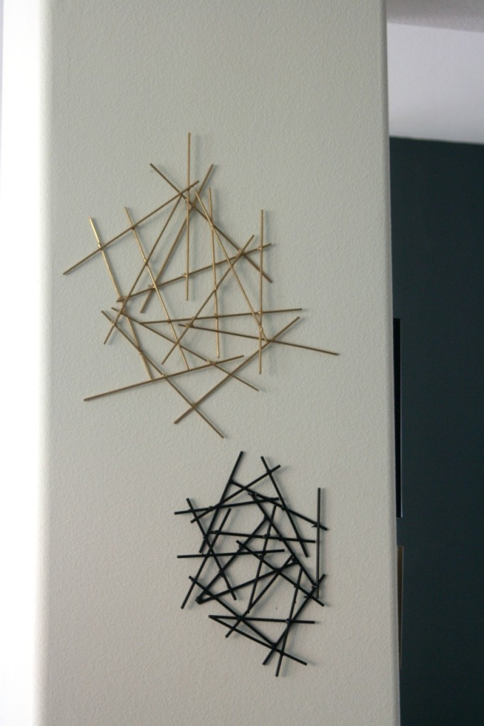 Diy Starburst Wall Decor From Stick For Beautiful Wall Ideas