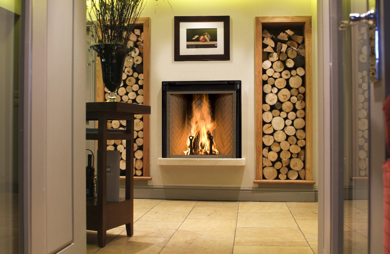 decorating natural stone rumford fireplace with chimney plus